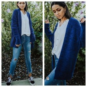Free People High Hopes Chunky Cardigan Sweater L